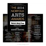 Norfolk Arts Awards 2014 programme design