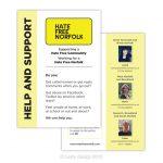 Hate Free Norfolk support leaflet design