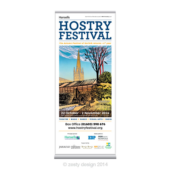 Hostry Festival 2014 pull up banner design
