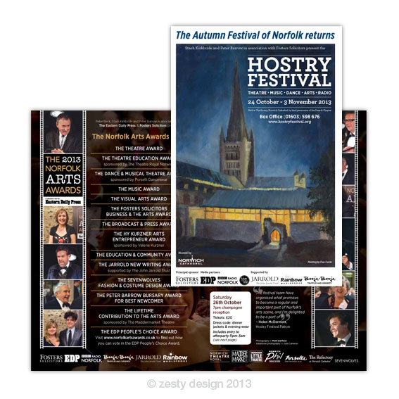 Hostry Festival 2013 brochure design