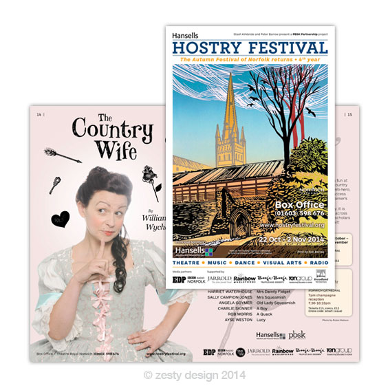 Hostry Festival 2014 brochure design