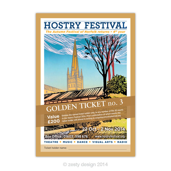 Hostry Festival 2014 ticket design