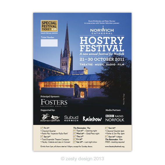 Hostry Festival 2011 ticket design