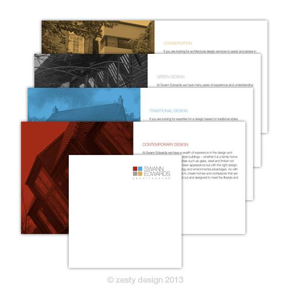 Swann Edwards Architecture brochure design