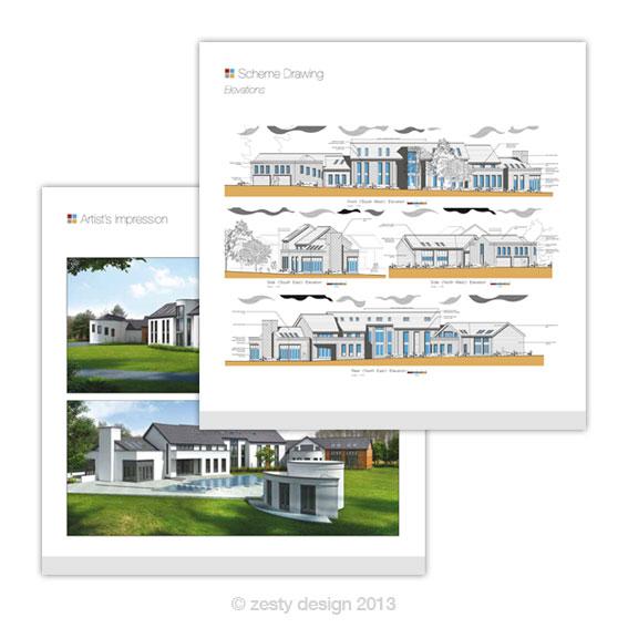 Swann Edwards Architecture brochure insert design